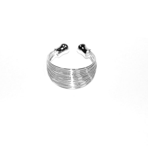 Ring multiline silver